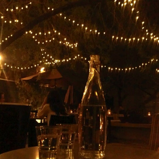 Gorgeous outside area at night