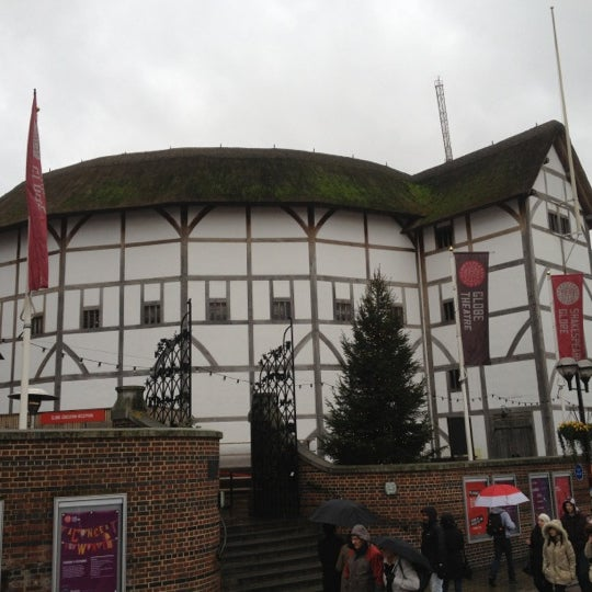 Photo taken at Shakespeare's Globe Theatre by Chris L. on 12/31/2012