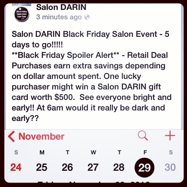 Photo taken at Salon DARIN by Darren R. on 11/25/2013