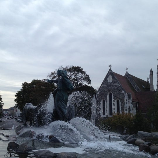 Photo taken at Gefion Fountain by Signe Elin G. on 10/1/2012