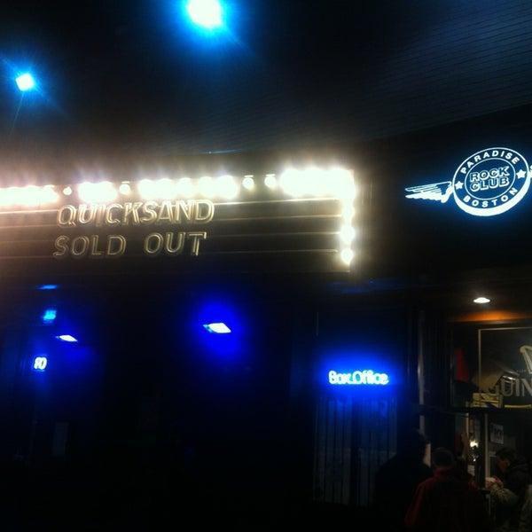 Photo taken at Paradise Rock Club by Brad S. on 1/8/2013