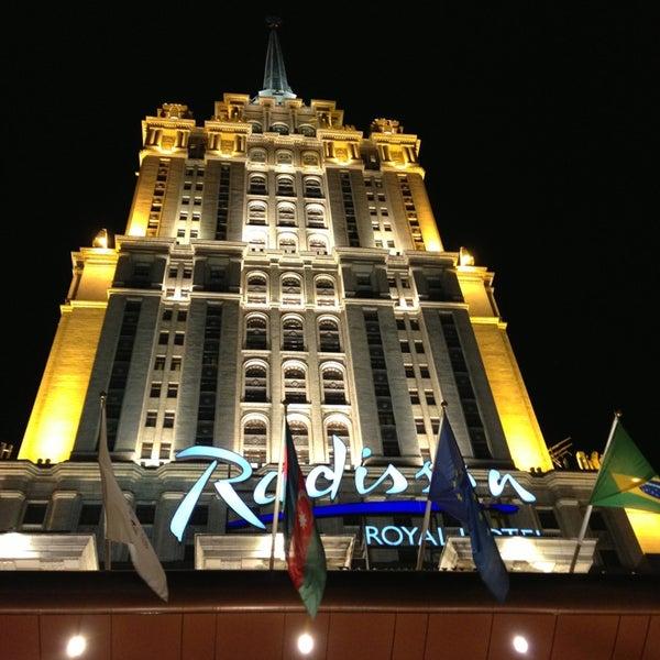 Photo taken at Radisson Royal Hotel by Giorgi on 2/26/2013