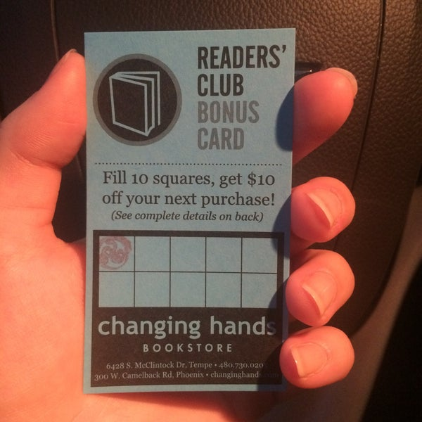 Ask for a frequency card! After $100 in purchases, you can get $10 off!