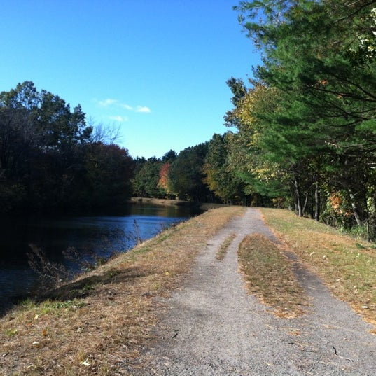Photo taken at Mine Falls Park by Sarah P. on 10/16/2012