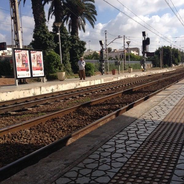 Photo taken at Gare de Mohammédia  محطة المحمدية by Yousra B. on 6/25/2014