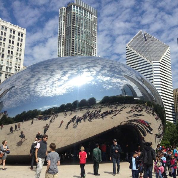Photo taken at Cloud Gate by Anish Kapoor by Michelle B. on 6/7/2013