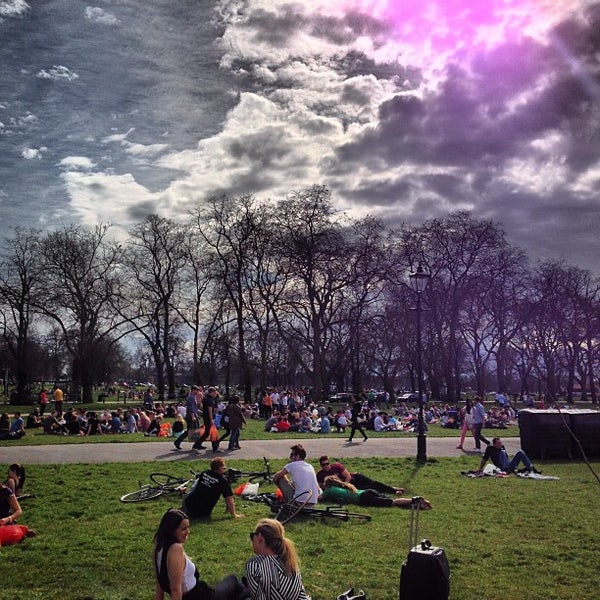 Photo taken at Clapham Common by Flo G. on 4/14/2013