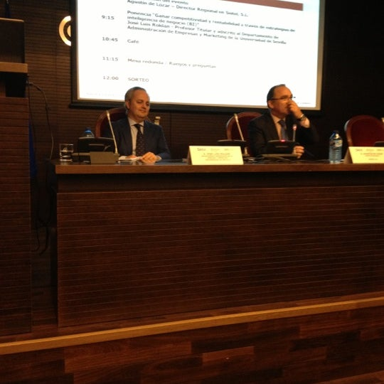 Photo taken at Cámara de Comercio de Sevilla by Gabi C. on 10/9/2012
