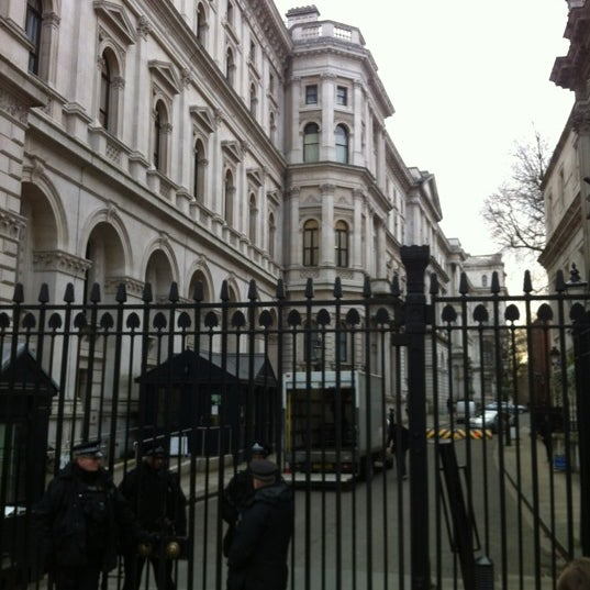 Photo taken at 10 Downing Street by Phil B. on 2/15/2013