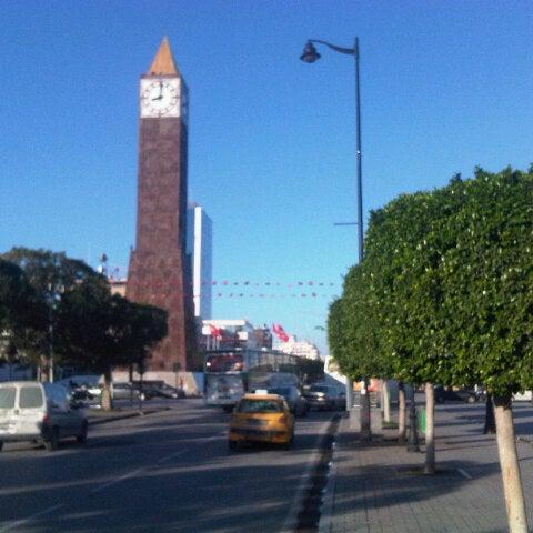 Photo taken at Avenue Habib Bourguiba by Marwen T. on 10/29/2012