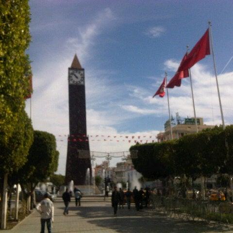 Photo taken at Avenue Habib Bourguiba by Marwen T. on 10/30/2012