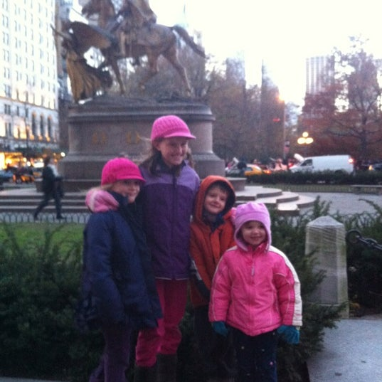 Photo taken at Grand Army Plaza by Andrew G. on 11/24/2012