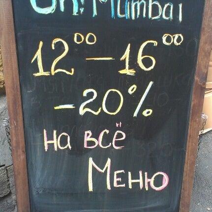 Снимок сделан в Oh! Mumbai пользователем Mary M. 7/18/2013