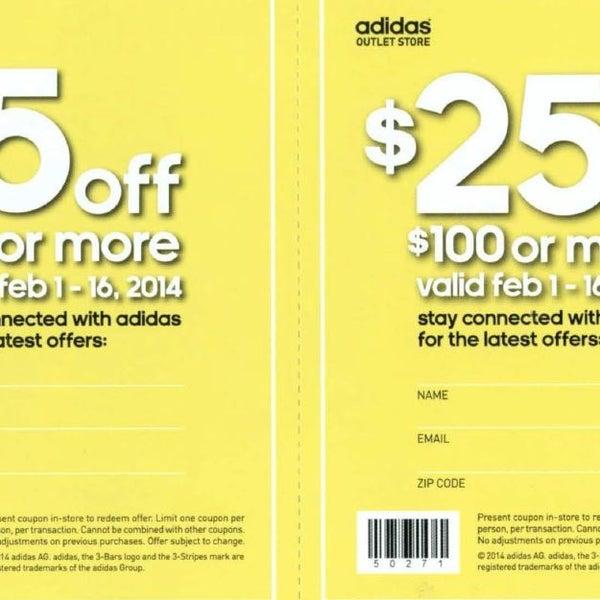 adidas factory outlet las vegas coupon