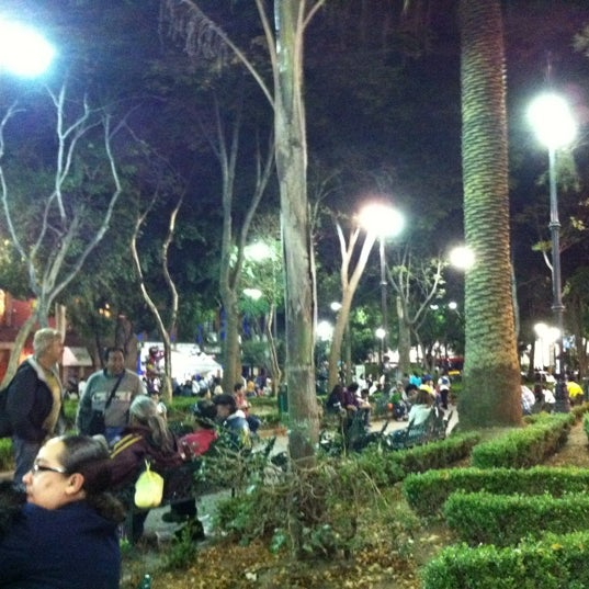 Photo taken at Jardín Hidalgo by Jorge L. on 10/21/2012