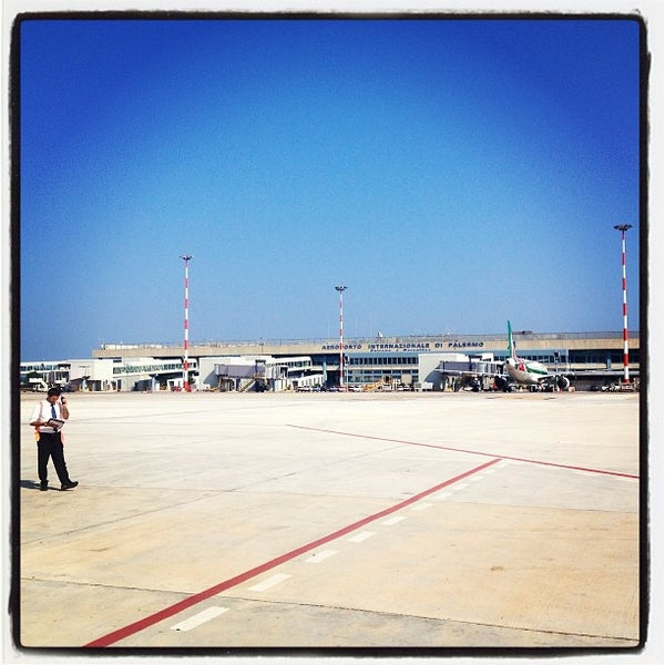 Photo taken at Palermo Airport (PMO) by Marco D. on 7/18/2013