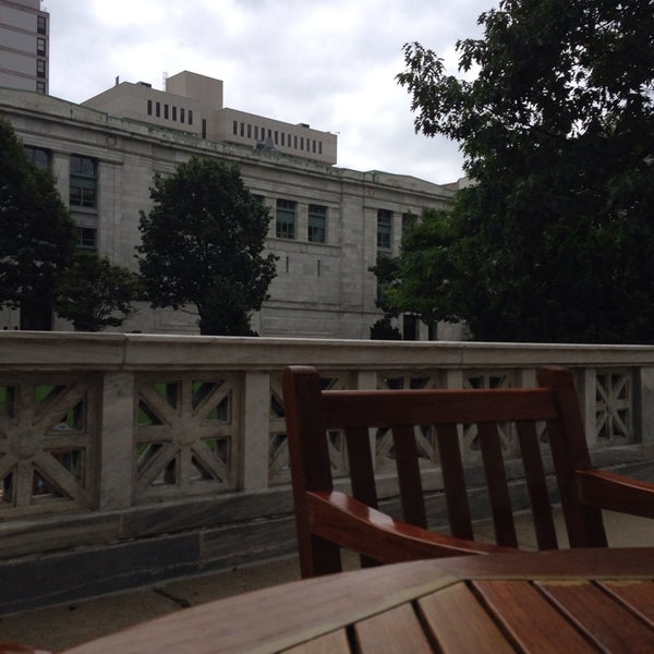 Photo taken at Harvard Medical School Quadrangle by Kate D. on 8/8/2013