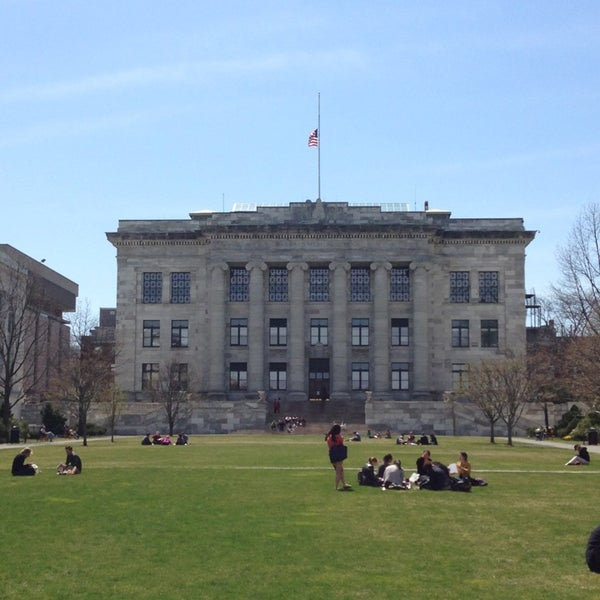Photo taken at Harvard Medical School Quadrangle by Kate D. on 4/16/2013