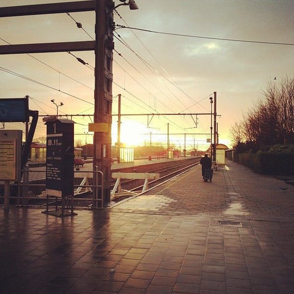 Photo taken at Station Blankenberge by Jason W. on 11/30/2012