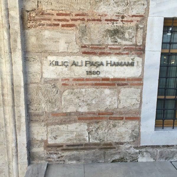 10/7/2016 tarihinde Nasser A.ziyaretçi tarafından Kılıç Ali Paşa Hamamı'de çekilen fotoğraf