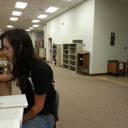 Photo taken at Houston Cole Library by Michael D. on 10/15/2012
