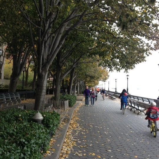 Photo taken at Battery Park City Esplanade by Sevyn T. on 10/25/2012