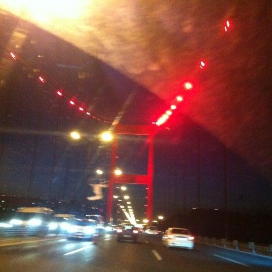 Photo taken at Fatih Sultan Mehmet Bridge by Oktay Y. on 12/24/2012