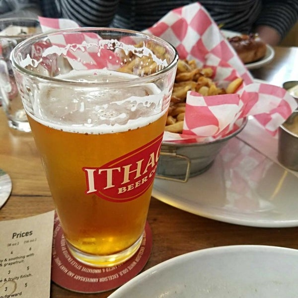 Photo taken at Ithaca Beer Co. Taproom by Philip F. on 3/19/2017