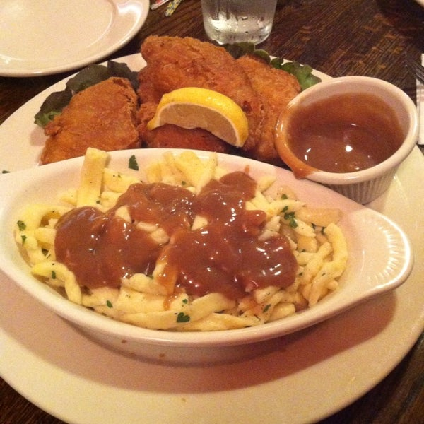 I got the beer-battered fish and chips, but replaced the chips with Spätzle and gravy. It was absolute perfection. Spätzle really is the ultimate comfort food.
