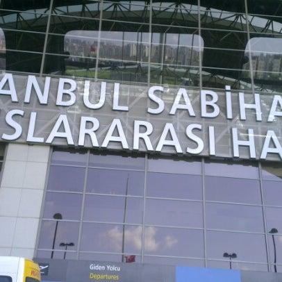 Photo taken at Istanbul Sabiha Gökçen International Airport (SAW) by Sevda A. on 7/6/2013
