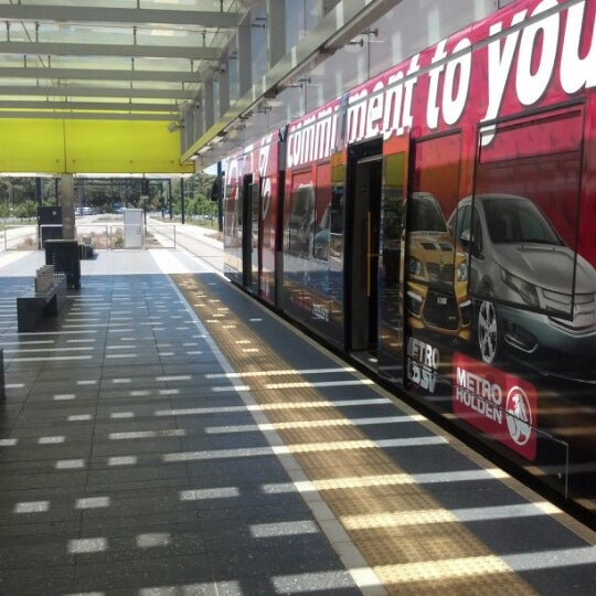 Photo taken at Entertainment Centre Tram Stop by Chris W. on 12/25/2012