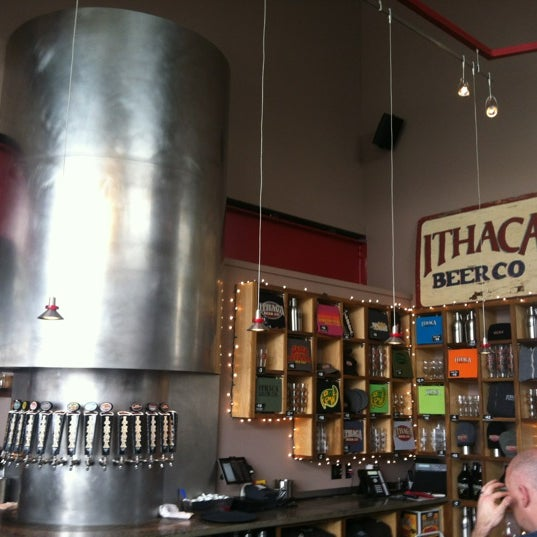 Photo taken at Ithaca Beer Co. Taproom by David T. on 2/17/2013