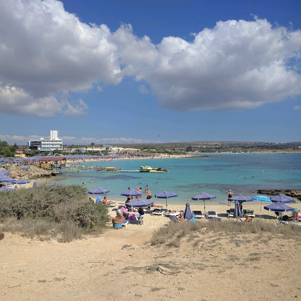 Photo taken at Makronissos Beach by Cassiano M. on 9/27/2016
