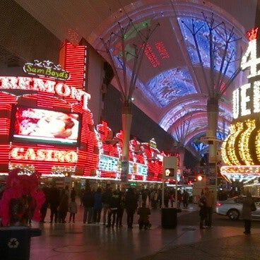 Photo taken at Fremont Street Experience by Richard B. on 12/25/2012
