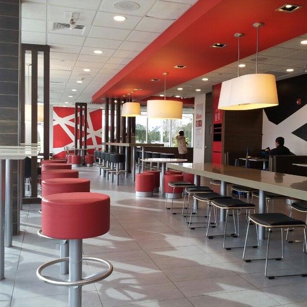 Nice makeover McDonald's...fancy schmantzee.  No more singing lion.