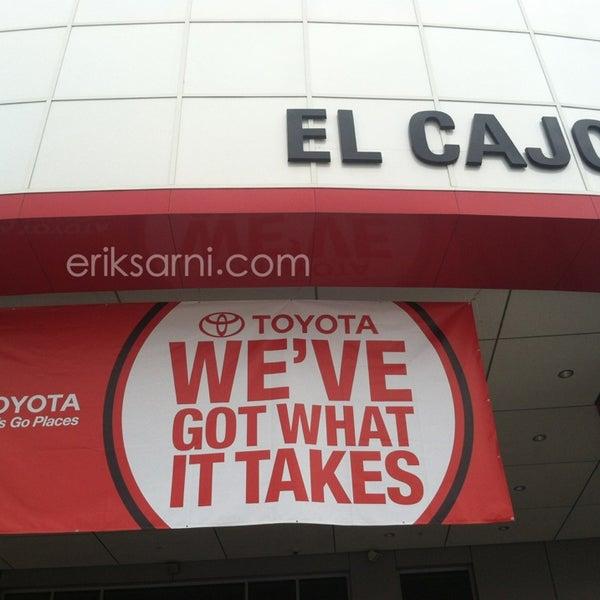Photo taken at Toyota of El Cajon by Erik S. on 1/9/2015