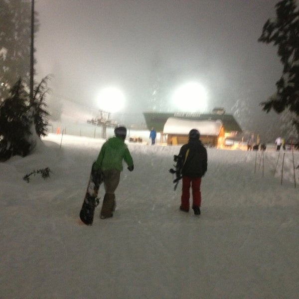 Photo taken at Cypress Mountain Ski Area by Leah J. on 1/9/2013