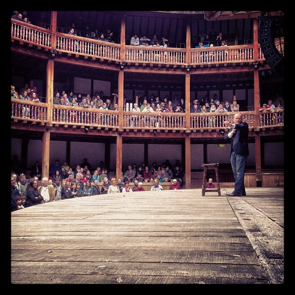 Photo taken at Shakespeare's Globe Theatre by Vic C. on 4/21/2013