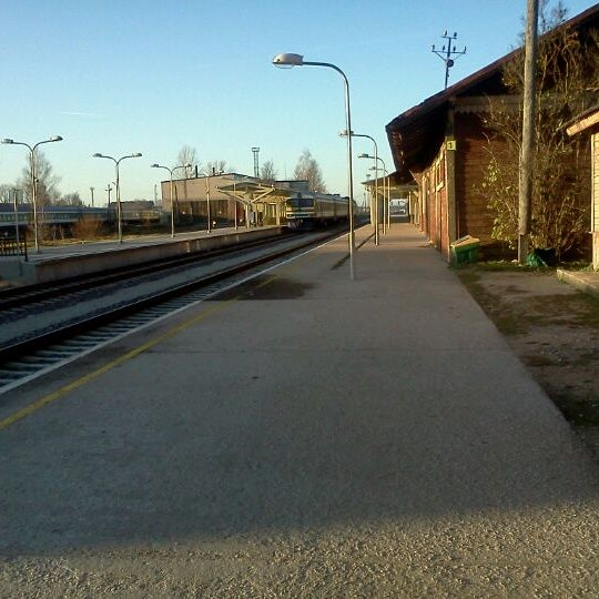 Photo taken at Tartu Raudteejaam by Svetlana D. on 11/10/2011