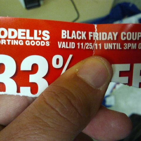 Photo taken at Modell's Sporting Goods by Peter R. on 11/26/2011
