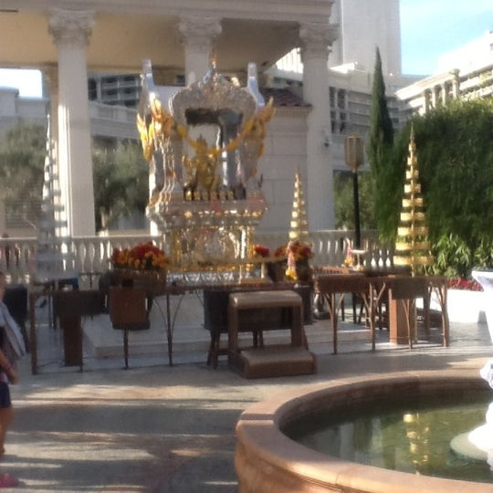 Photo taken at Caesars Palace Gardens by Stephen B. on 12/30/2011