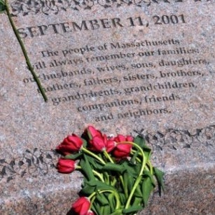 2004 addition to Boston Public Garden. Memorial to victims of 9/11. Designed by Victor Walker & lists 200 individuals who perished whom lived in MA or were originally from MA. More info via blog<LINK>