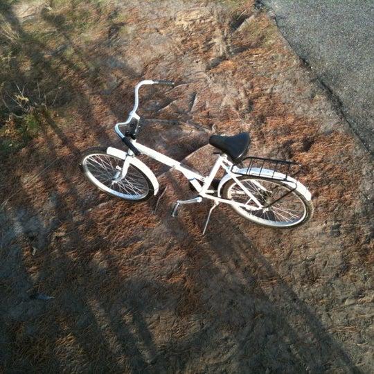 Pak een witte fiets en rij het park rond, de routes zijn niet heel ingewikkeld.