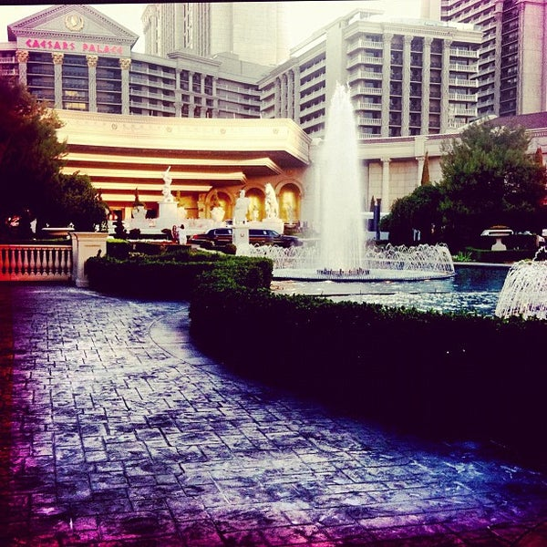 Photo taken at Caesars Palace Gardens by Mary Elise Chavez on 6/15/2012