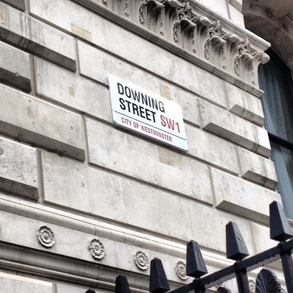 Photo taken at 10 Downing Street by Thibault d. on 6/3/2012