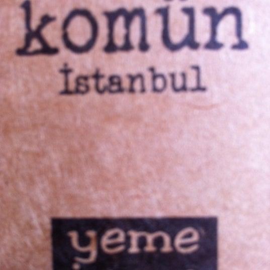 Photo taken at Komün by ROSSİ BARBAROSSA ASMALİMESCİT T. on 2/29/2012