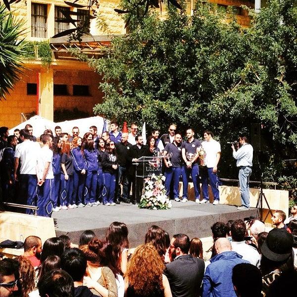 Photo taken at Holy Spirit University Of Kaslik by Bisher T. on 3/27/2015
