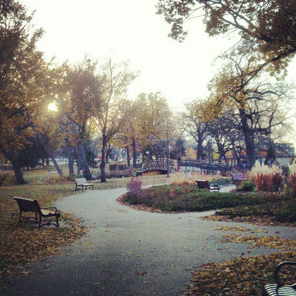 Photo taken at Loring Park by Darrin R. on 10/27/2012