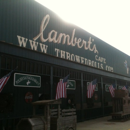 Photo taken at Lambert's Cafe by Eric S. on 11/24/2012