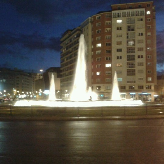 Photo taken at Plaza De España by Luis M. on 11/1/2012
